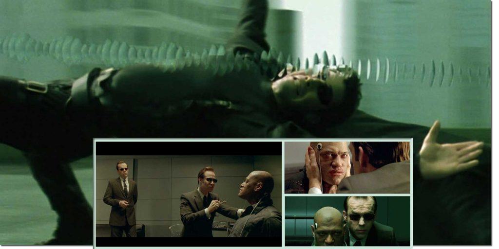 Matrix Characters Agent Smith & Morpheus