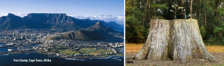 Flat Top Mountain Capetown Afrika