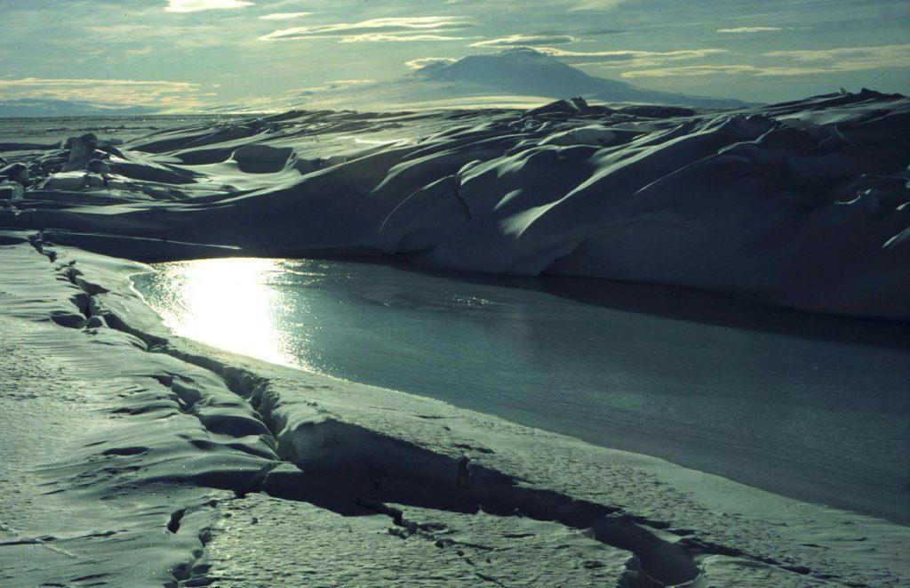 Antarctica opening of water